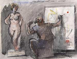Bartoli Amerigo - Il pittore astratto